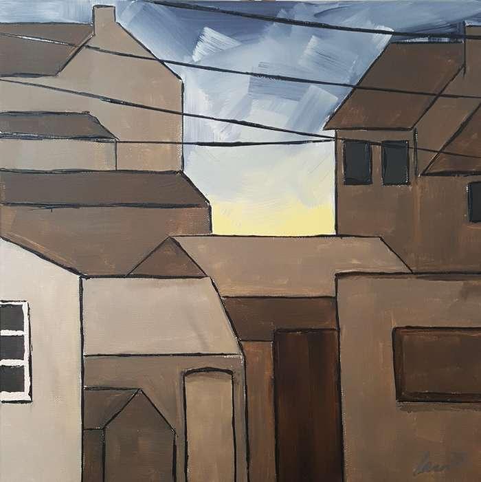 Painting - Gold Grey Sky, Carn Bosavern, St Just