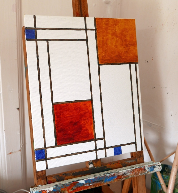 Mondrian in earth tones
