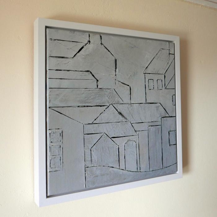 Foggy Day - Carn Bosavern framed